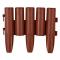 Set 8 buc. gard pentru gradina din plastic, maro teracota 27x24cm, 2,16m