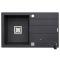 Set Pyramis granit chiuveta bucatarie ARKADIA 1B 1D SQ + baterie MINUET Black Cod: 070015301M