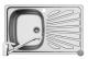 Set Pyramis inox chiuveta bucatarie CRETA 1B 1D ST LN + baterie ASALIA Cod: 100127901AS