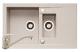 Set Pyramis chiuveta granit Studio 78x48 + baterie Asalia Bej Cod: 070140301AB