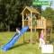 Loc de joaca pentru copii Jungle Gym Mansion - tobogan verde mar