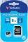 Card microSDHC Verbatim 8GB Clasa 4 cu adaptor SD