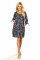 Rochie dama Roselyn, Bleumarin/Verde XL
