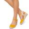 Sandale dama Suzanne vintage cu panza, Galben 40