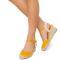 Sandale dama Suzanne vintage cu panza, Galben 41