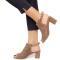 Sandale dama Tatyana cu toc mediu, Bej 40