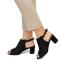 Sandale dama Tatyana cu toc mediu, Negru 38