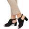 Sandale dama Tatyana cu toc mediu, Negru 40
