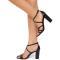 Sandale dama Yara cu imprimeu piele de sarpe, Negru 36