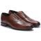 Pantofi barbati din piele naturala Thomas eleganti aspect brogue, Maro 43