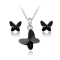 Set bijuterii Simple Butterfly Black